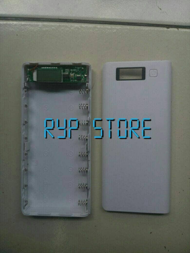 Diy Exchangeable Cell Power Bank Case For 1pcs 18650 Powerbank 2pcs Console 2x Casing Modul Kosongan Enclousure Shell Pcb Detail Gambar Lcd Enclosure Terbaru