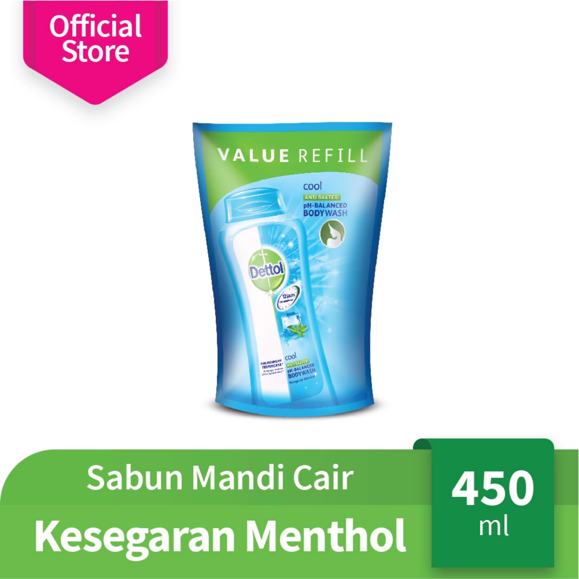 Spesifikasi Dettol Body Wash Cool Refill 450 Ml 3 Pcs Baru