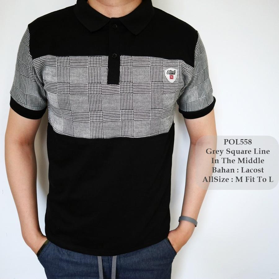 TGF 558 Polo Shirt Berkerah Cowok / Polo Shirt Pria / Kaos Kerah Cowok / Kaos
