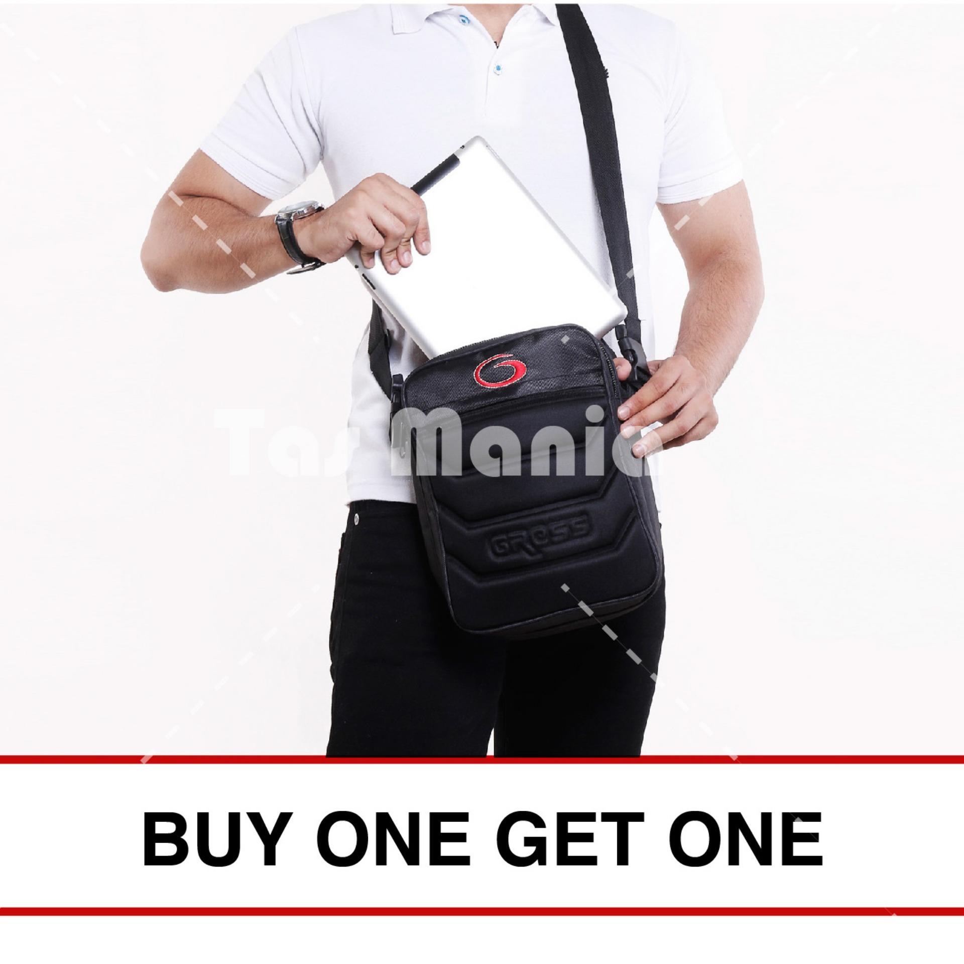 Gress Skywalkgress Tas Selempang Pria - Black - Buy Get One 88