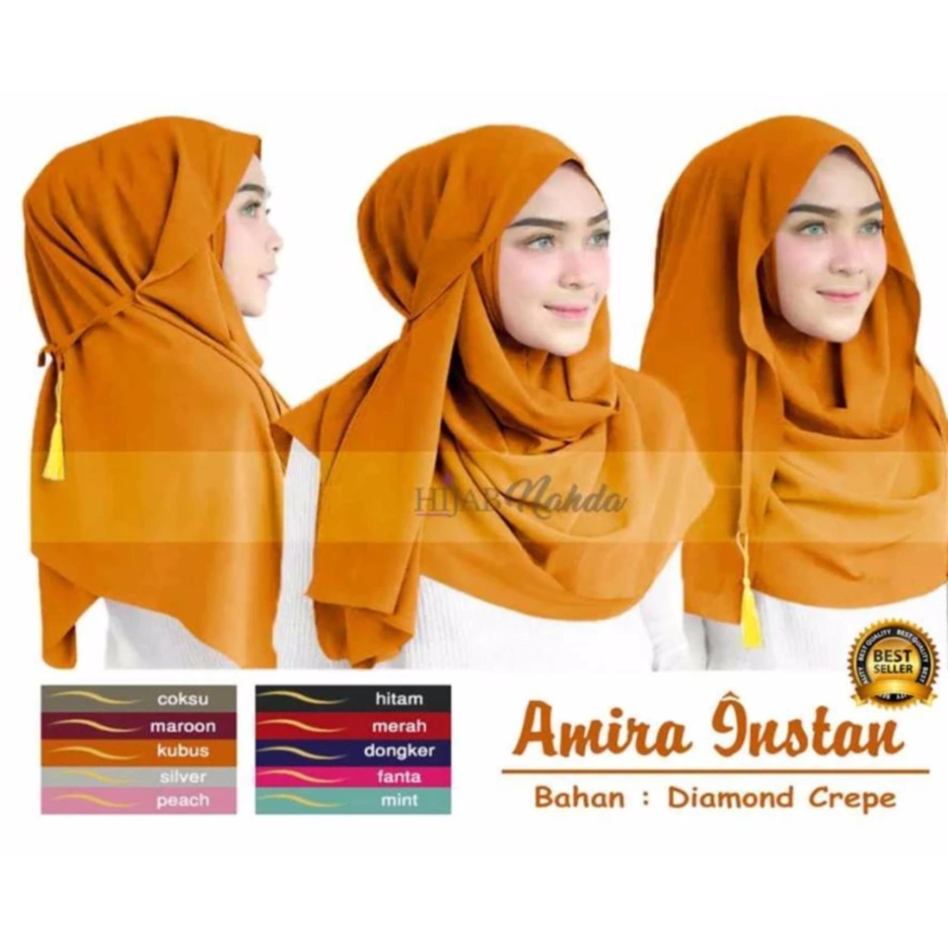 Premium Jilbab (Hijab) Kerudung Instant Pashmina 3in1 Amira