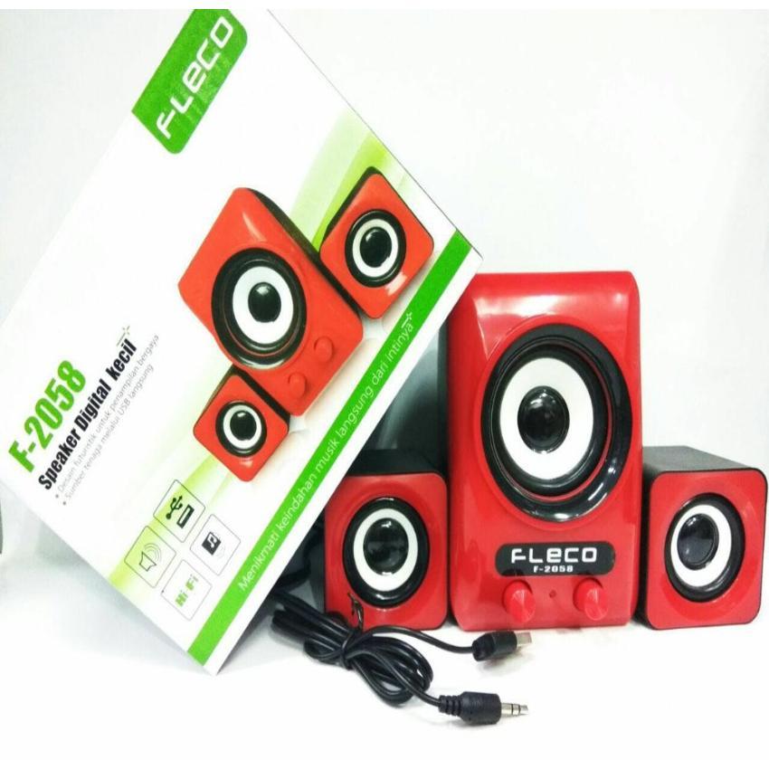 Speaker Aktif FLECO F-2058 / Speaker Mini HP dan Komputer F-2058