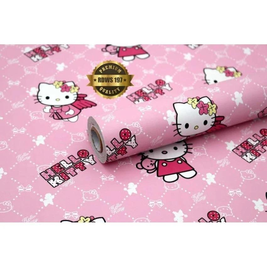 D R - - -Wallpaper Sticker Dinding / Gambar dinding model karakter Hello Kitty