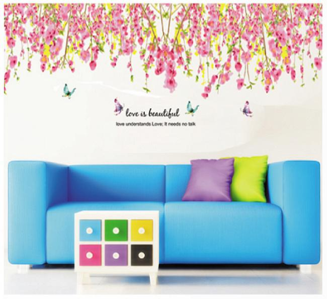 Room Decor Wall Sticker Border Fashion Sticker List Dinding Untuk Rumah B1101 10m. Source · Wall sticker Pink Flowers Top Border JM7179 (90x60) Stiker ...