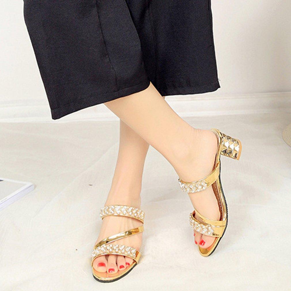 Fitur Eelc Trendi Gaya Korea Wanita Sandal Musim Panas Ujung Kaki Sepatu Platform Elegan Terbuka Bertumit Chunky