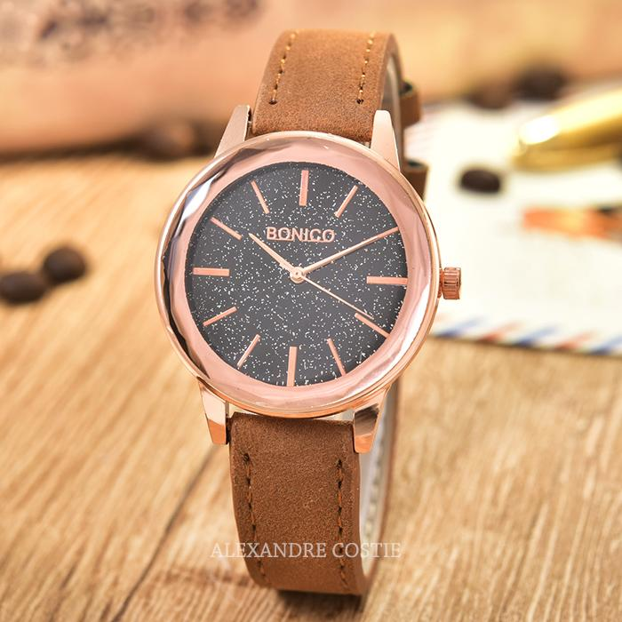 Jam Tangan Wanita Casual BONICO - BNC 5113L - Leather Band