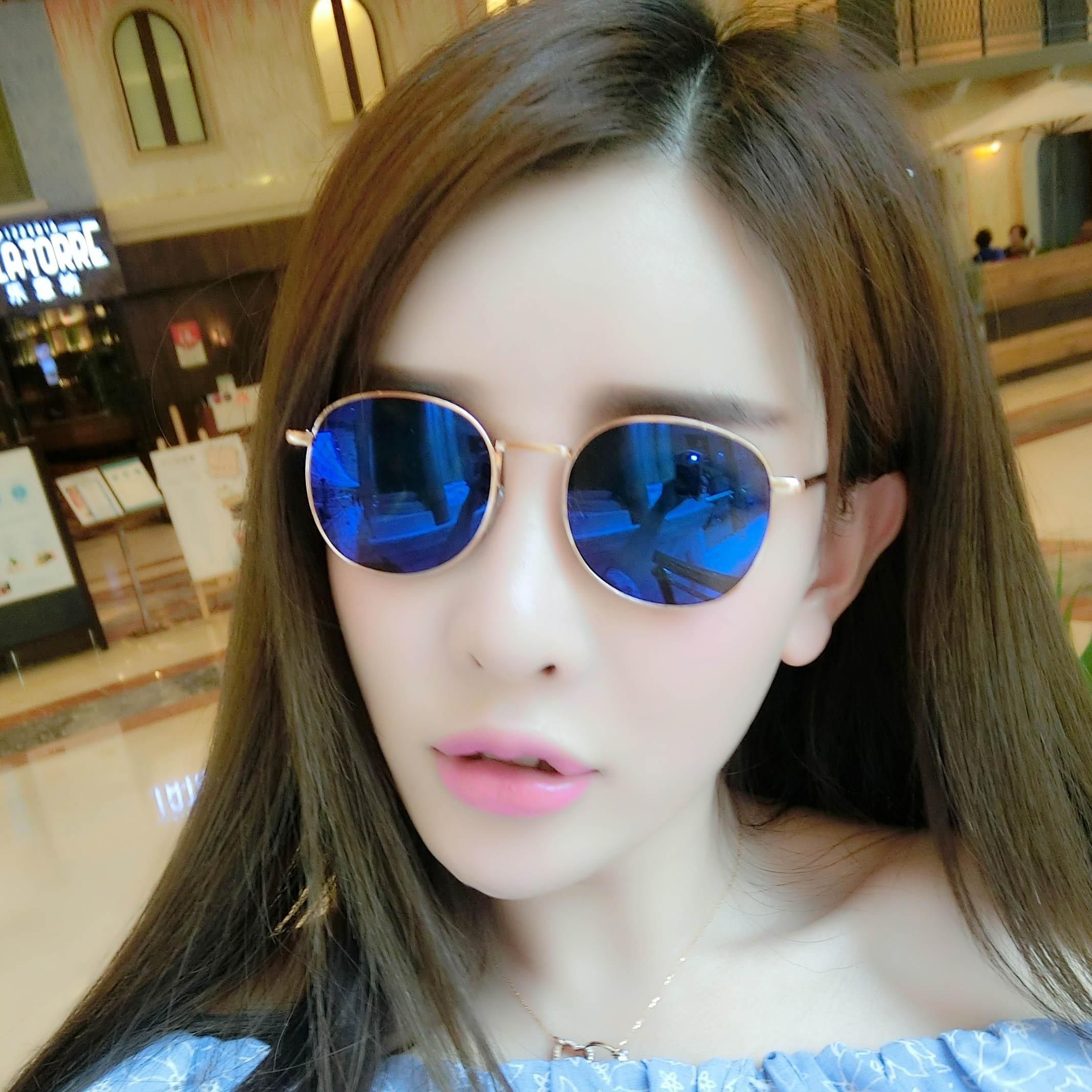 Kacamata hitam wanita wajah bulat Gaya Korea Jaring pasang merah Model  artis kacamata 2018 model baru 559b46757a