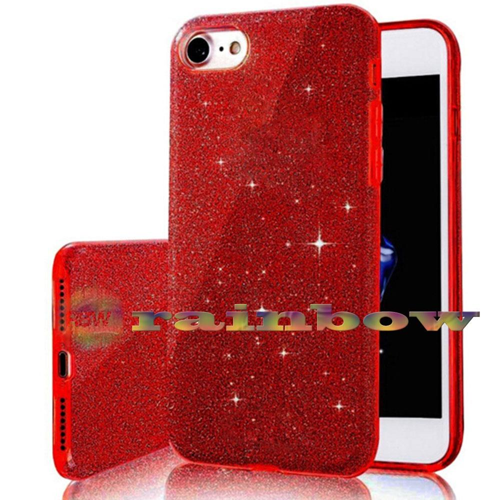 Rainbow Soft Case Sparkle Oppo A39 (3 in 1) / Sparkle Phone Cases Red