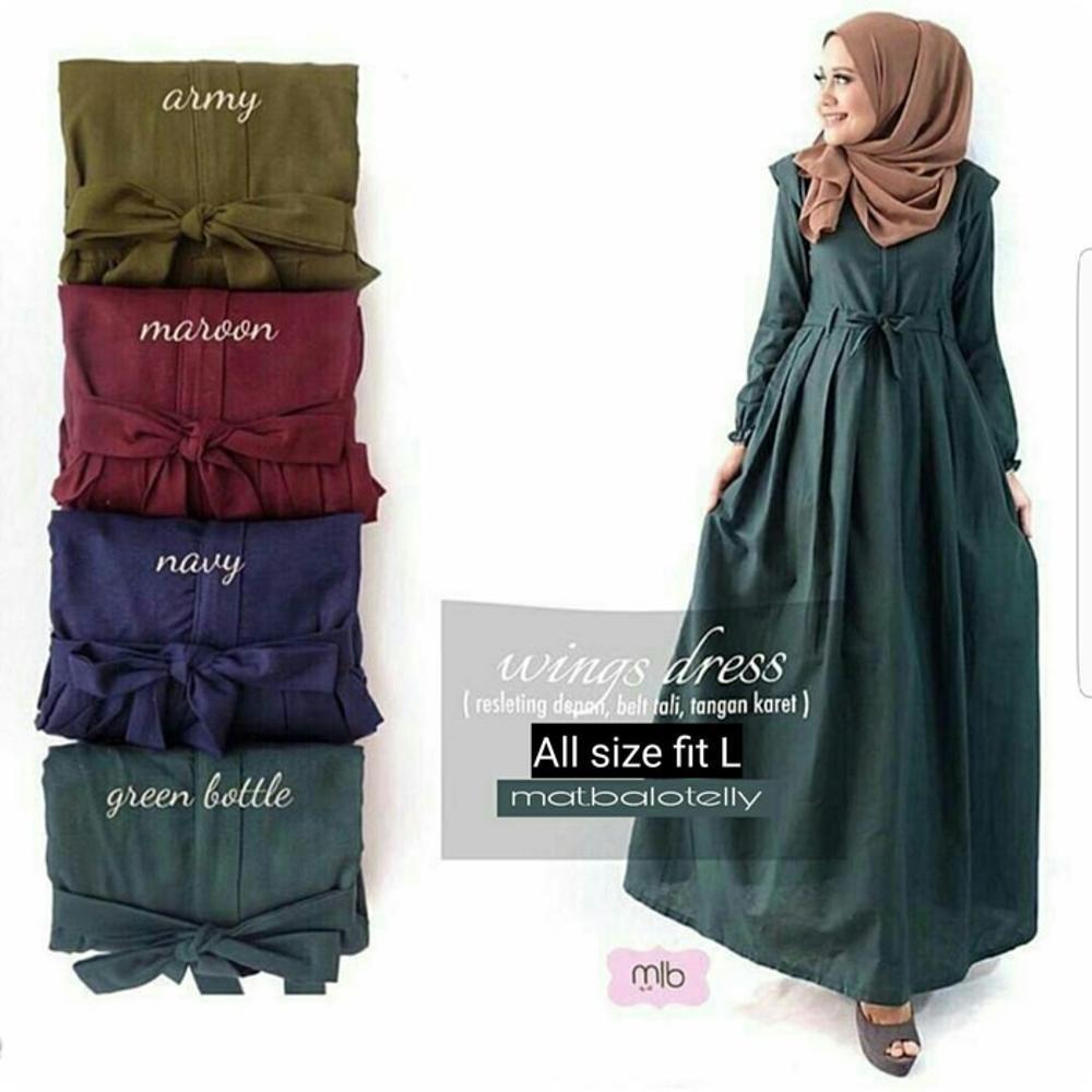 Jual Riuisme Baju Muslim Gamis Muslim Abaya Muslim Dress Muslim Baru
