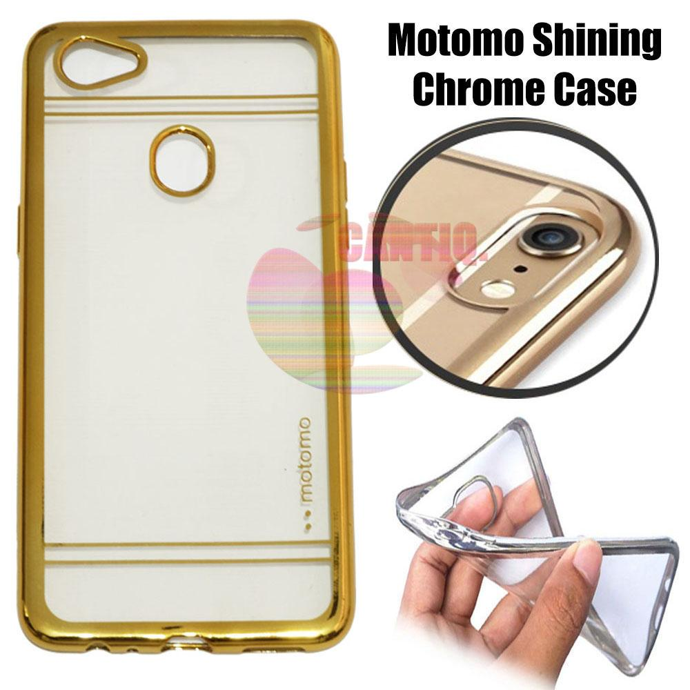 Motomo Chrome Oppo F7 Shining Chrome / Silikon Oppo F7 Shining List Chrome / Ultrahin Oppo