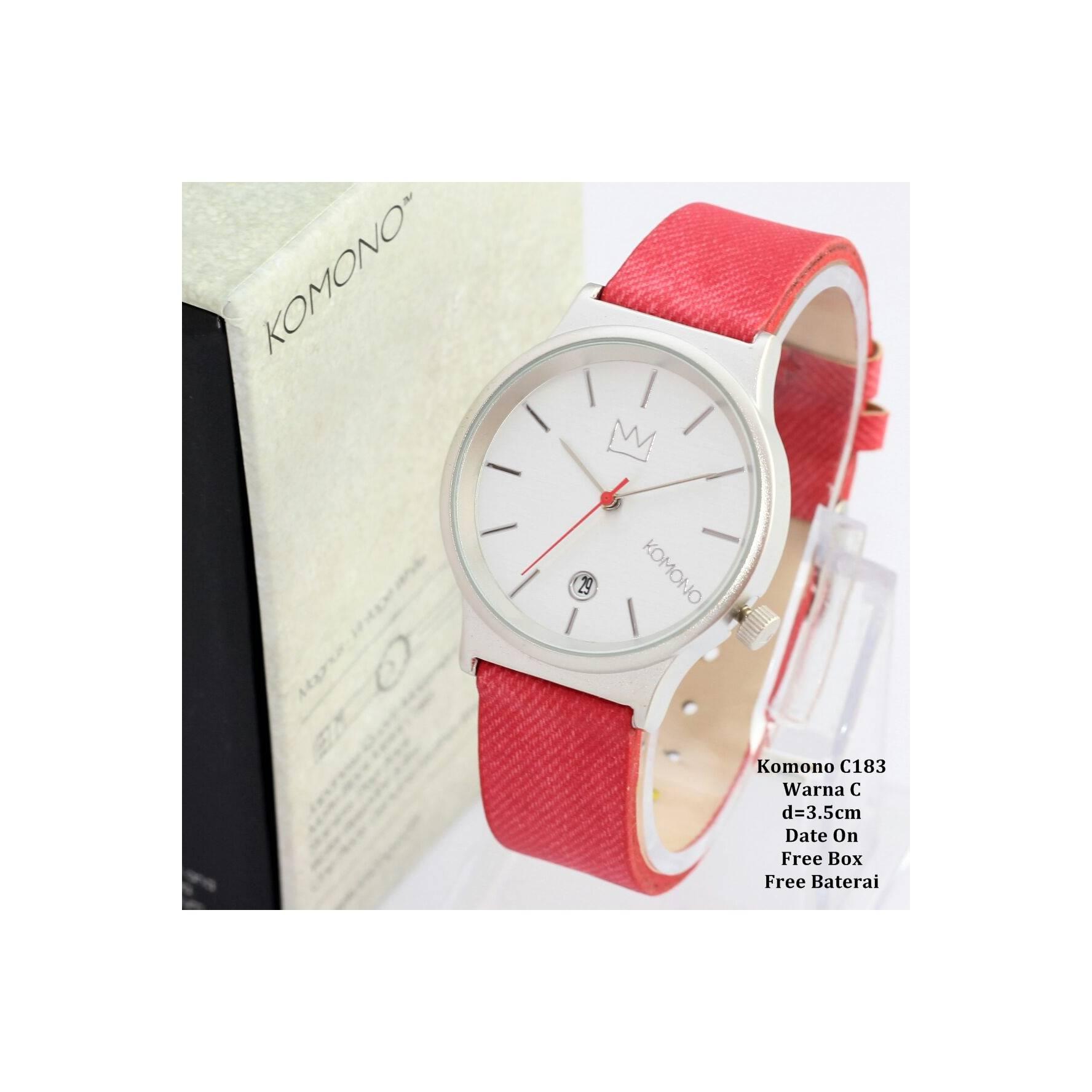 Jam tangan wanita / Cewek / Jam Murah Komono Queen Red Color + Box