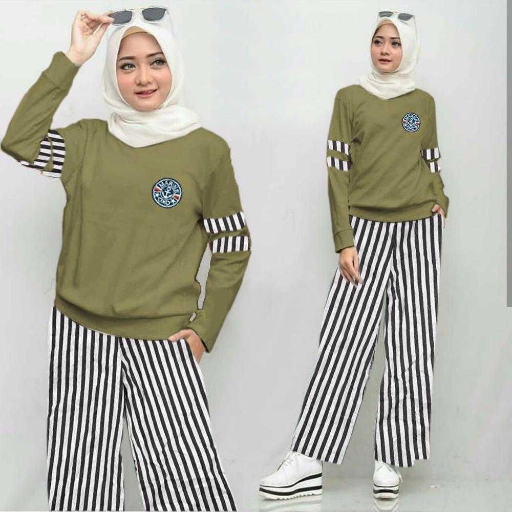 Newone Shop - Flow Set 2 - Setelan Kulot - Setelan Wanita - Fashion Muslim Perempuan