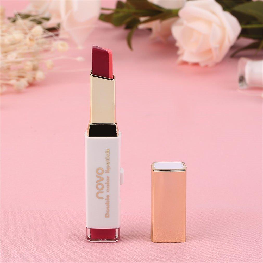 Fitur Novo Double Color Facial Makeup Lipstick Long Lasting Duos Tone Lipbar Moisturizing 7 4