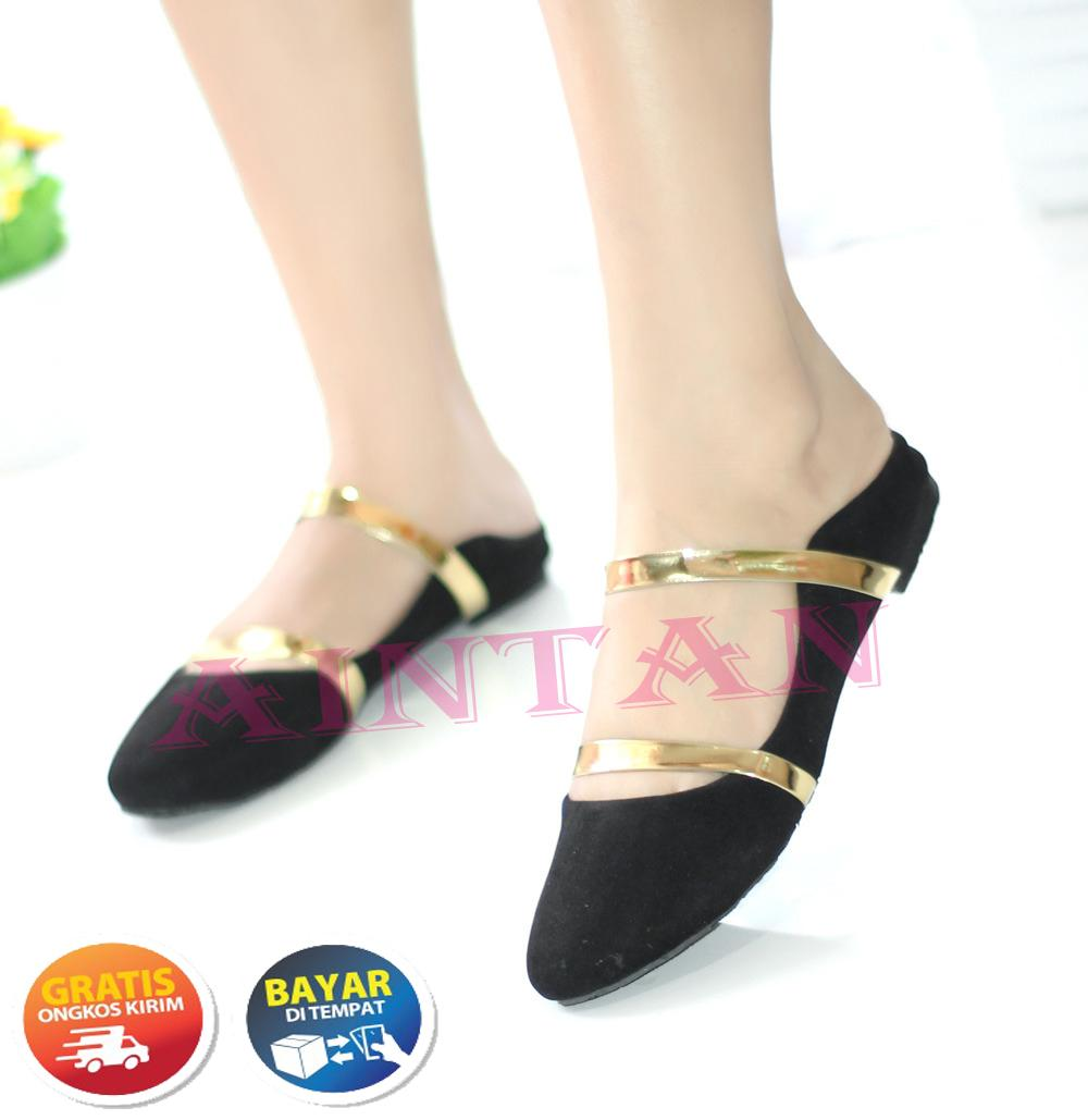 Aintan Flat Shoes Wanita Develop Sepatu Slop Wanita 002