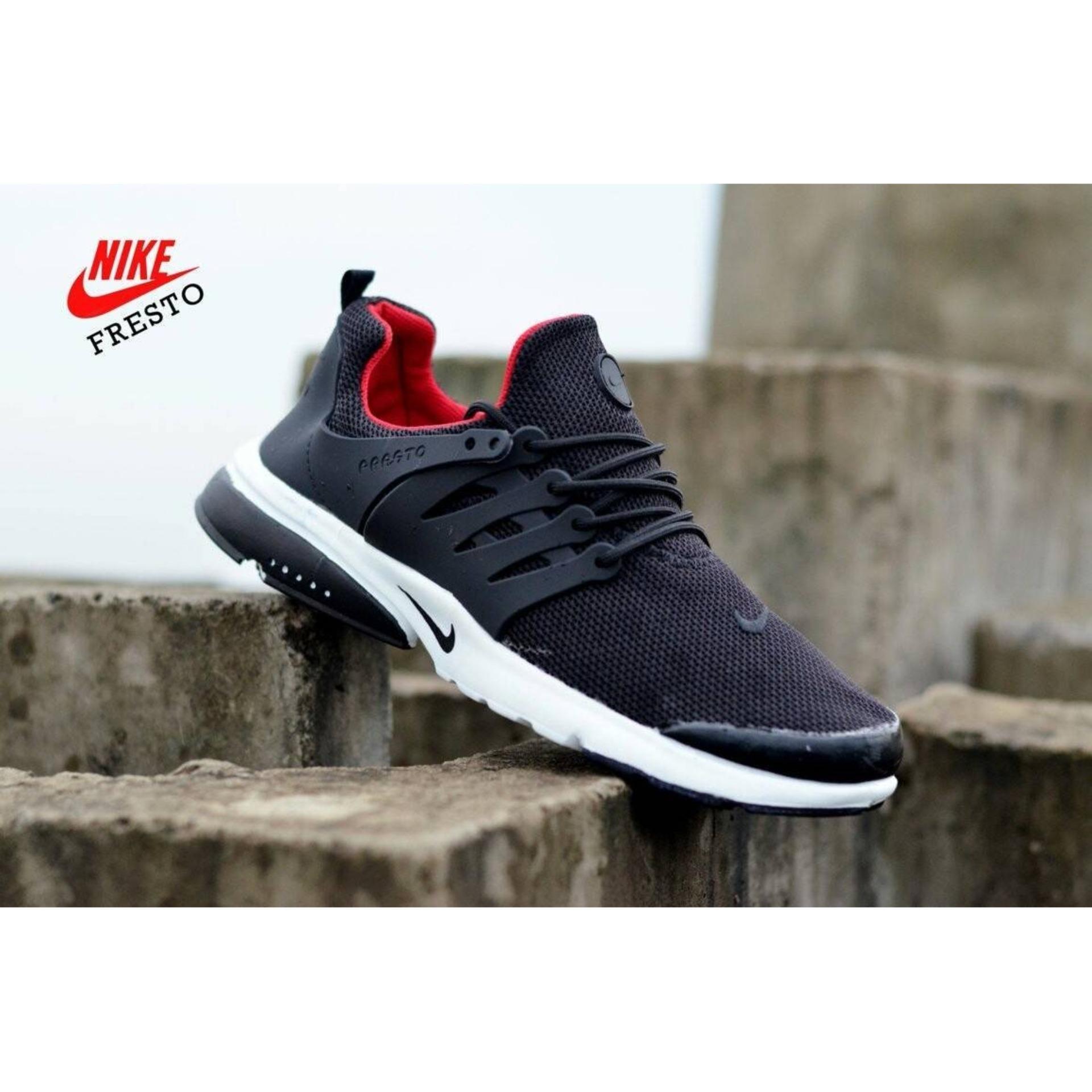 Sepatu Running Nike Presto Black Red