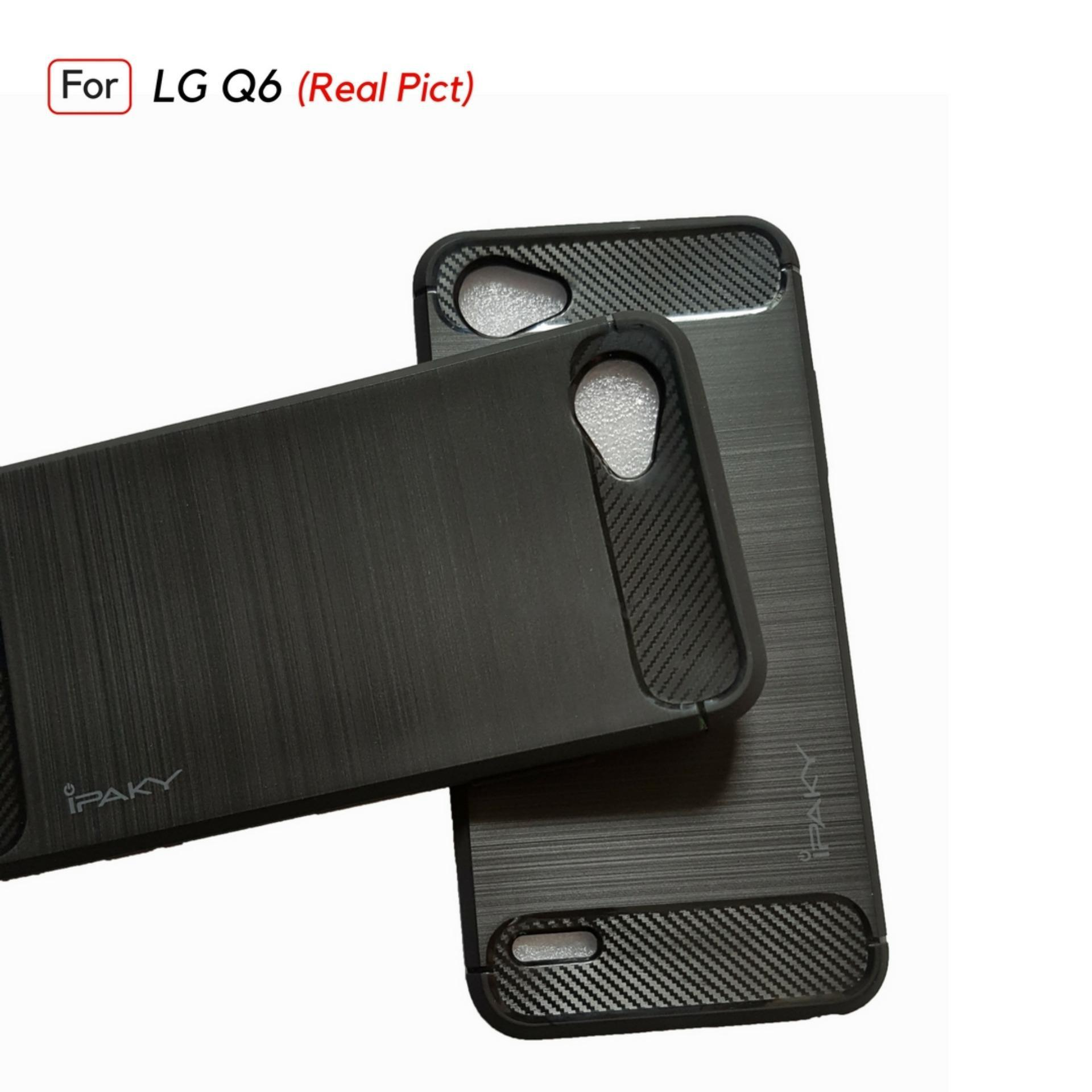 Jak Shop Armor Carbon Case For LG Q6 - Black - 3 .