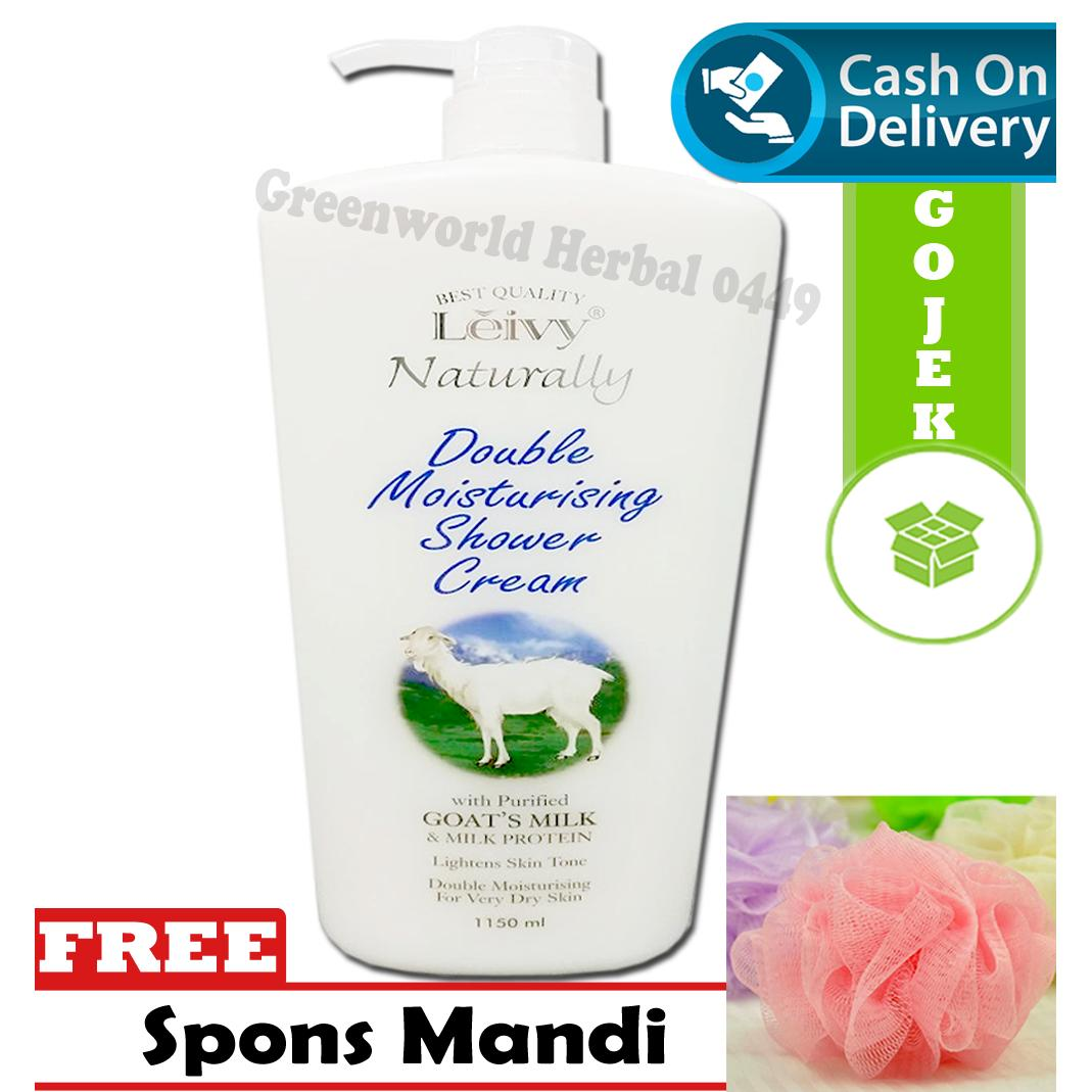 Spesifikasi Leivy Double Moist Shower Cream Goat 1150 Ml Sabun Susu Kambing Dan Harga