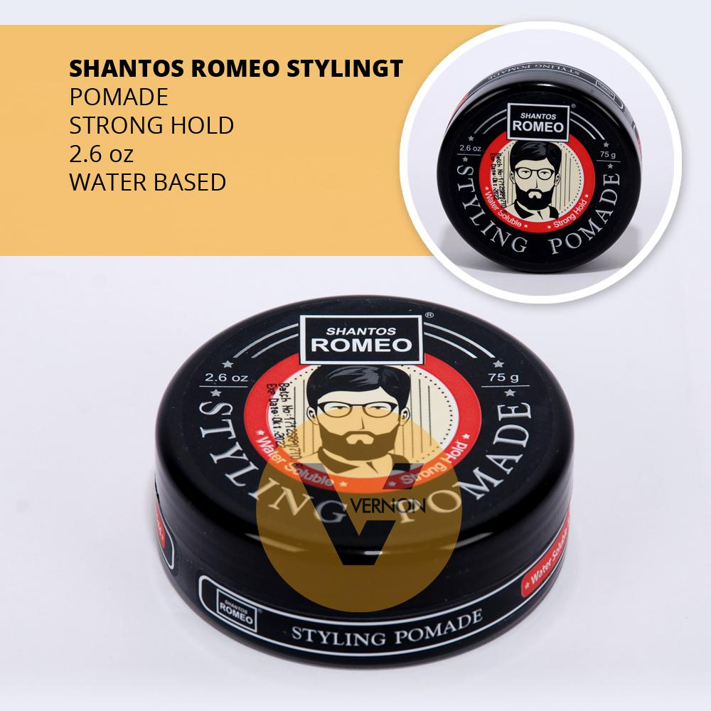 SHANTOS ROMEO STYLING POMADE WATERBASED - WATER BASED - STRONG HOLD 2.6 OZ SUDAH BPOM