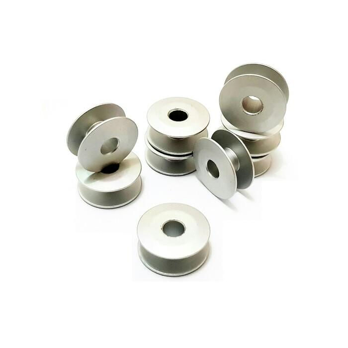 10 pcs Bobbins - Spool - Spul Aluminium untuk Mesin Jahit Industri