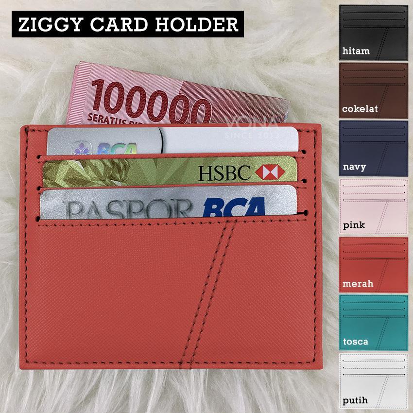 ... Dompet Kartu Kecil ATM Card Holder Money Slot Cardslot Selip KTP SIM ID Credit Card Saffiano
