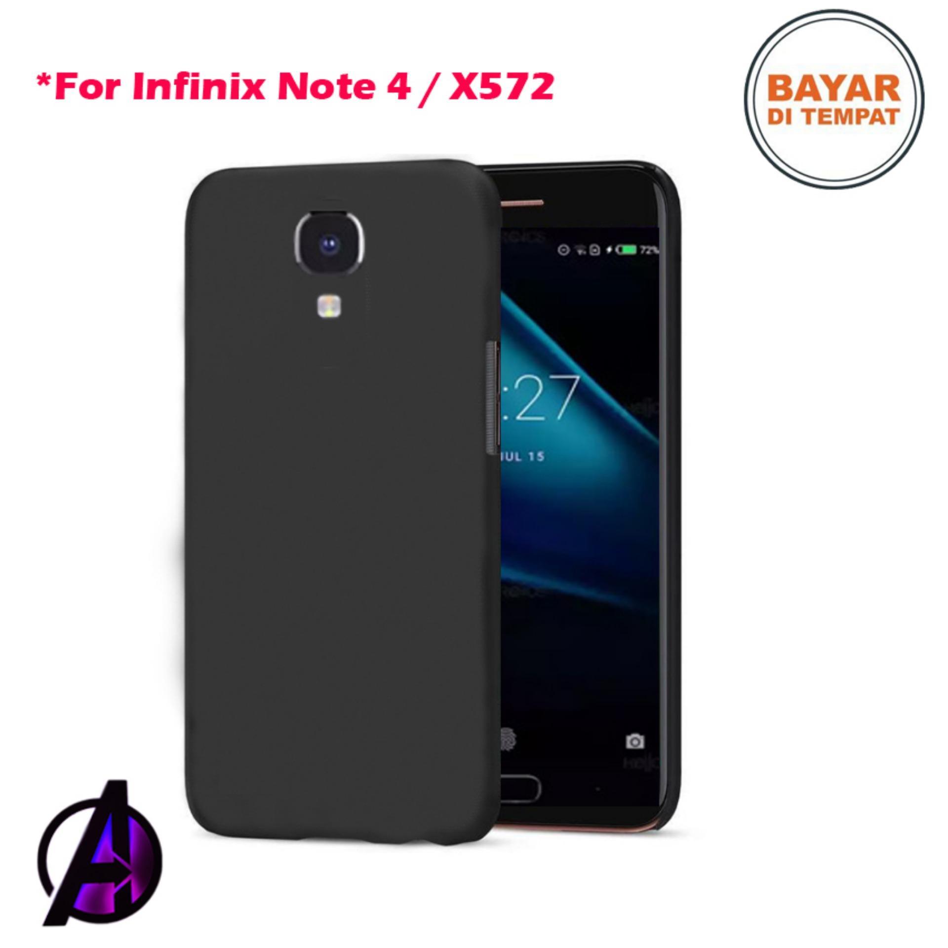 Fitur Case Matte Black Soft Slim Casing Handphone Samsung Galaxy Infinix Note 4 X572