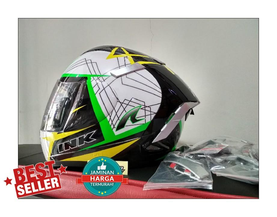 Detail Gambar Spoiler Helm Ink CL MAX model Shoei X-14 Terbaru