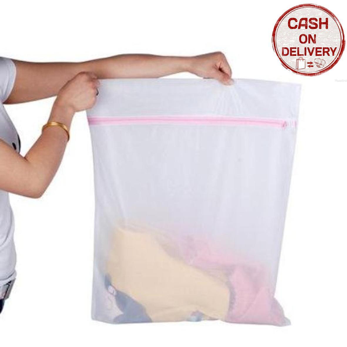 Kado Unik-- Bra Laundry Jaring Resleting Cucian Baju Kotor / Kantong Resleting / Tas