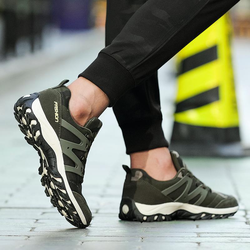 MENTEE Pria Dan Wanita Sepatu Hiking Sneakers Pasangan Camo Climbing Shoes - 5 .
