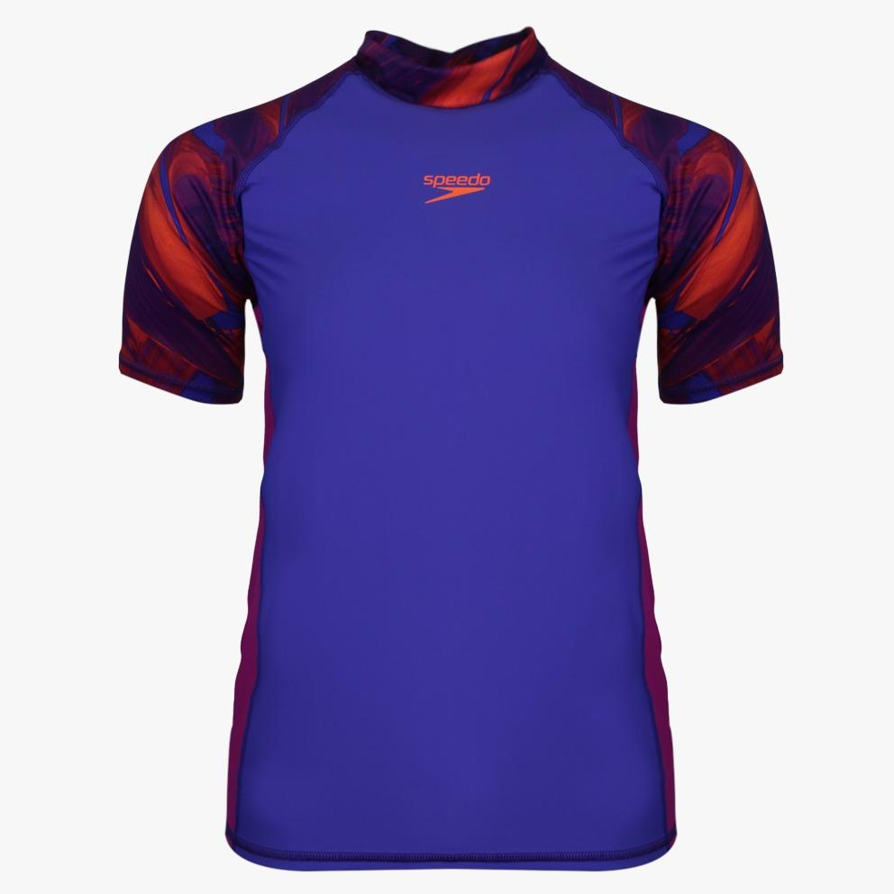 Speedo Adult Female Short Sleeve Rashguard - Biru