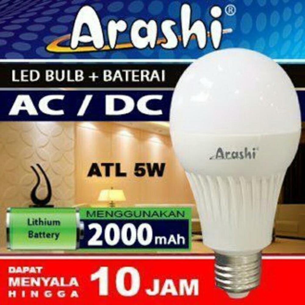 Arashi Lampu Led Emergency AC - DC ATL 5 Watt