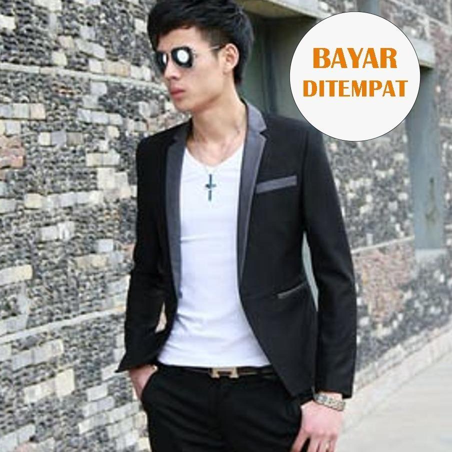 Beli Barang Jas Blazer Korea Live Style Black Online