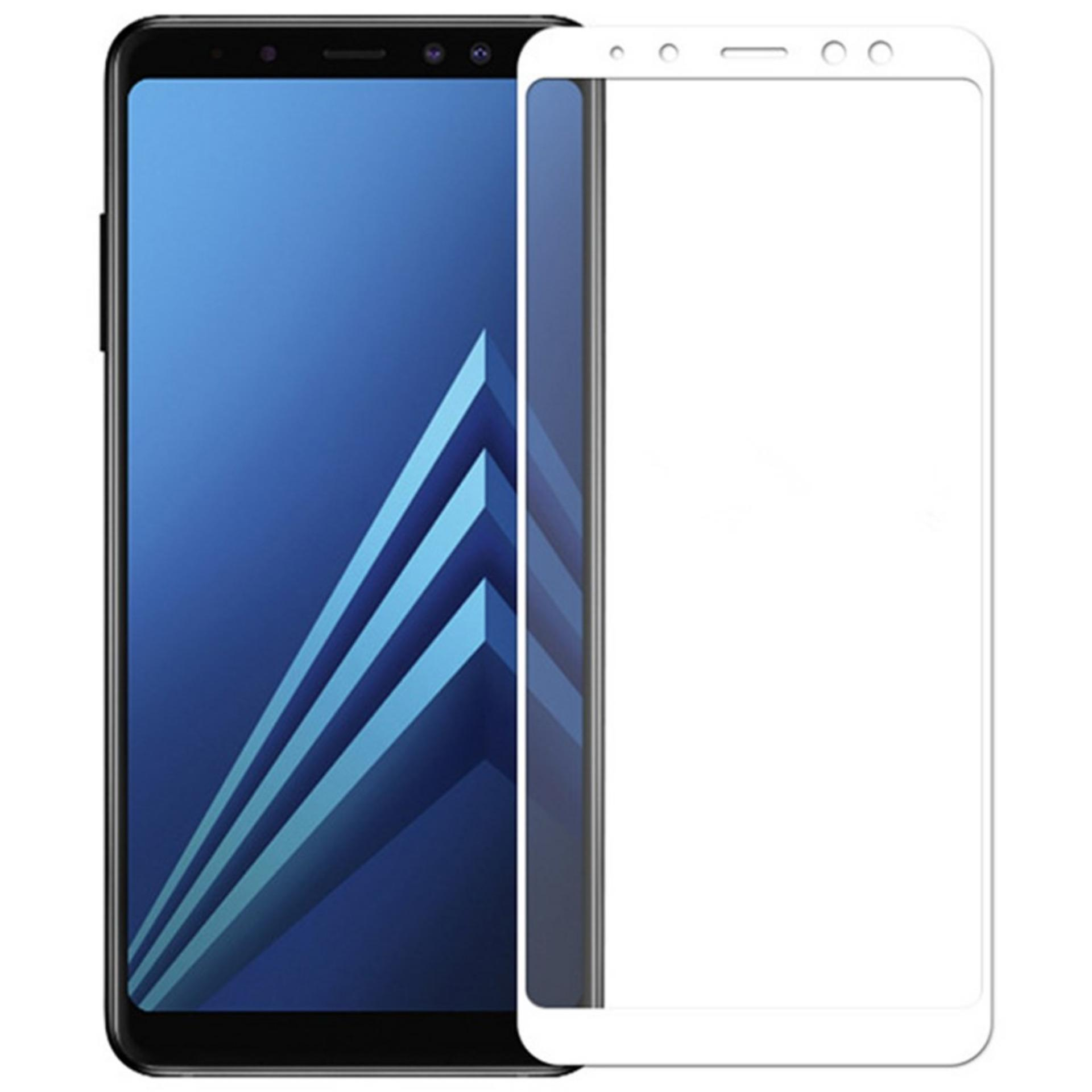 Tempered Glass 5D For Samsung Galaxy A8 Plus - Putih