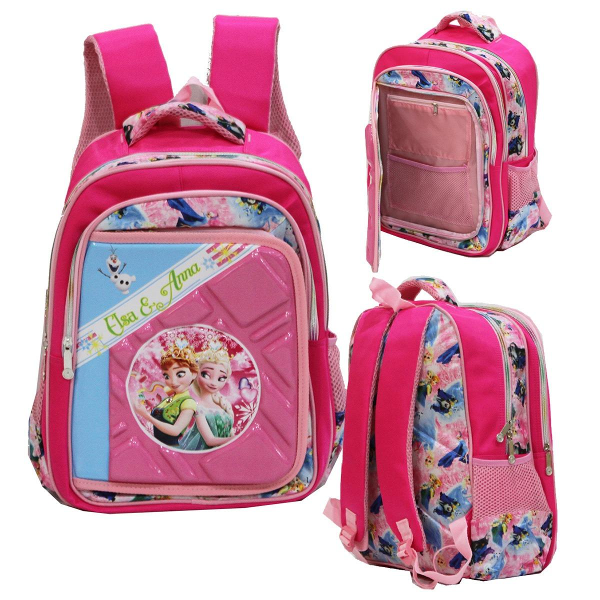Review Onlan Disney Frozen 6D Timbul Ransel Big Bag Sch**l Import Pink Terbaru