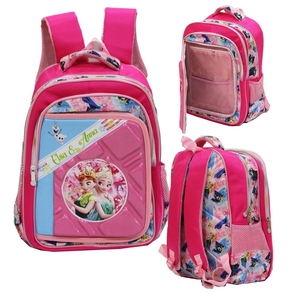 Toko Onlan Disney Frozen 6D Timbul Ransel Big Bag Sch**L Import Pink Murah Dki Jakarta