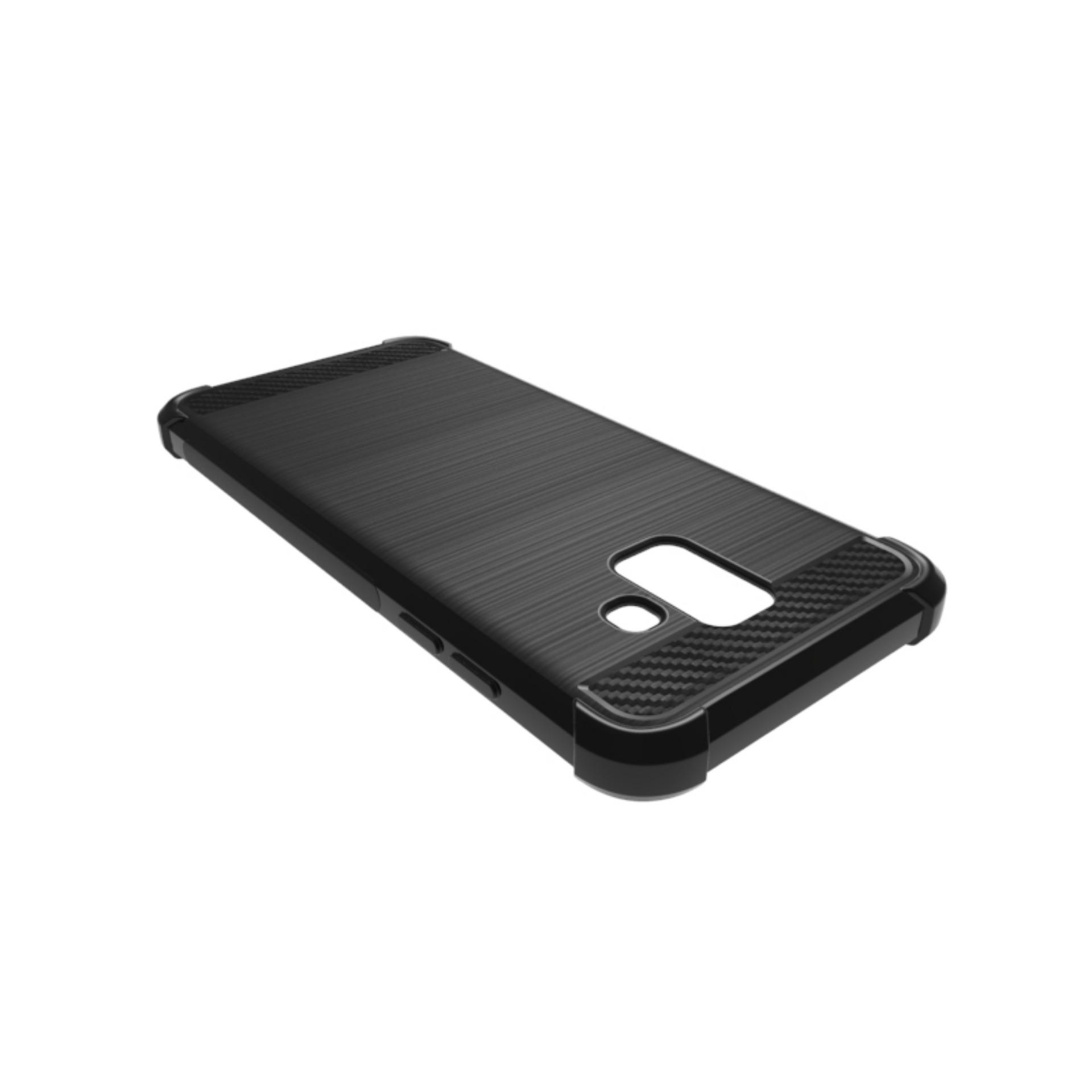 ... Accessories Hp Brushed Carbon Crack Case Samsung Galaxy A6 2018 ( 5.6 inch ) - Black ...