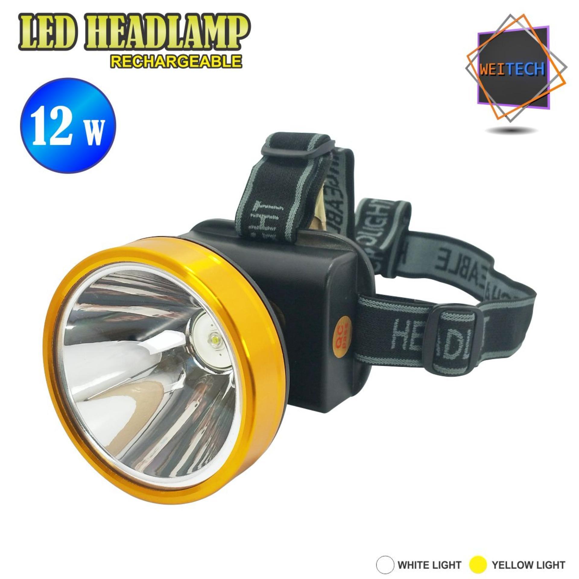 Harga Weitech Rechargeable Headlamp Lampu Kepala Ak Fl 103 12W Yang Bagus