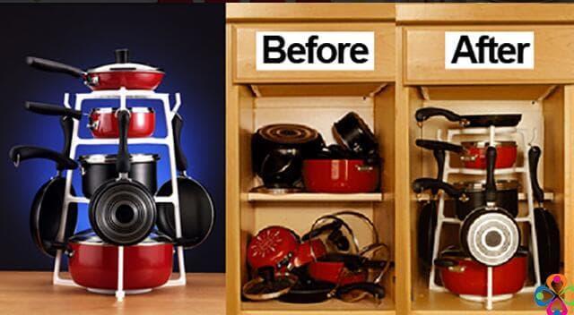 ... Pan Tree Panci Organizer Cookware Pantree Kitchenware Organizer - 3 ...