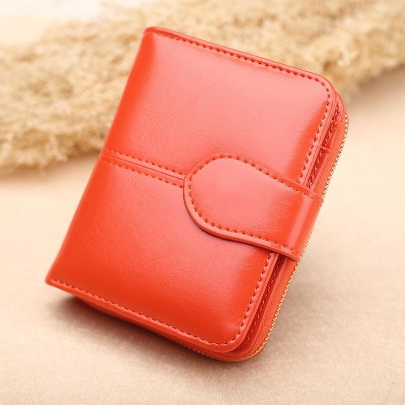 Laris item baru Dompet Uang Receh Guangzhou Kulit Minyak Lilin dompet koin  murid model pendek Dompet 3fa8e0fbd5