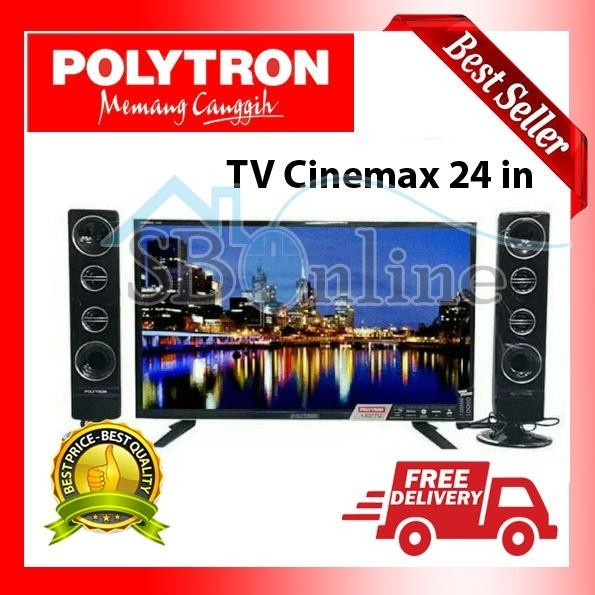 POLYTRON CINEMAX LED TV WITH TOWER SPEAKER - PLD24T8511 - 24 Inch