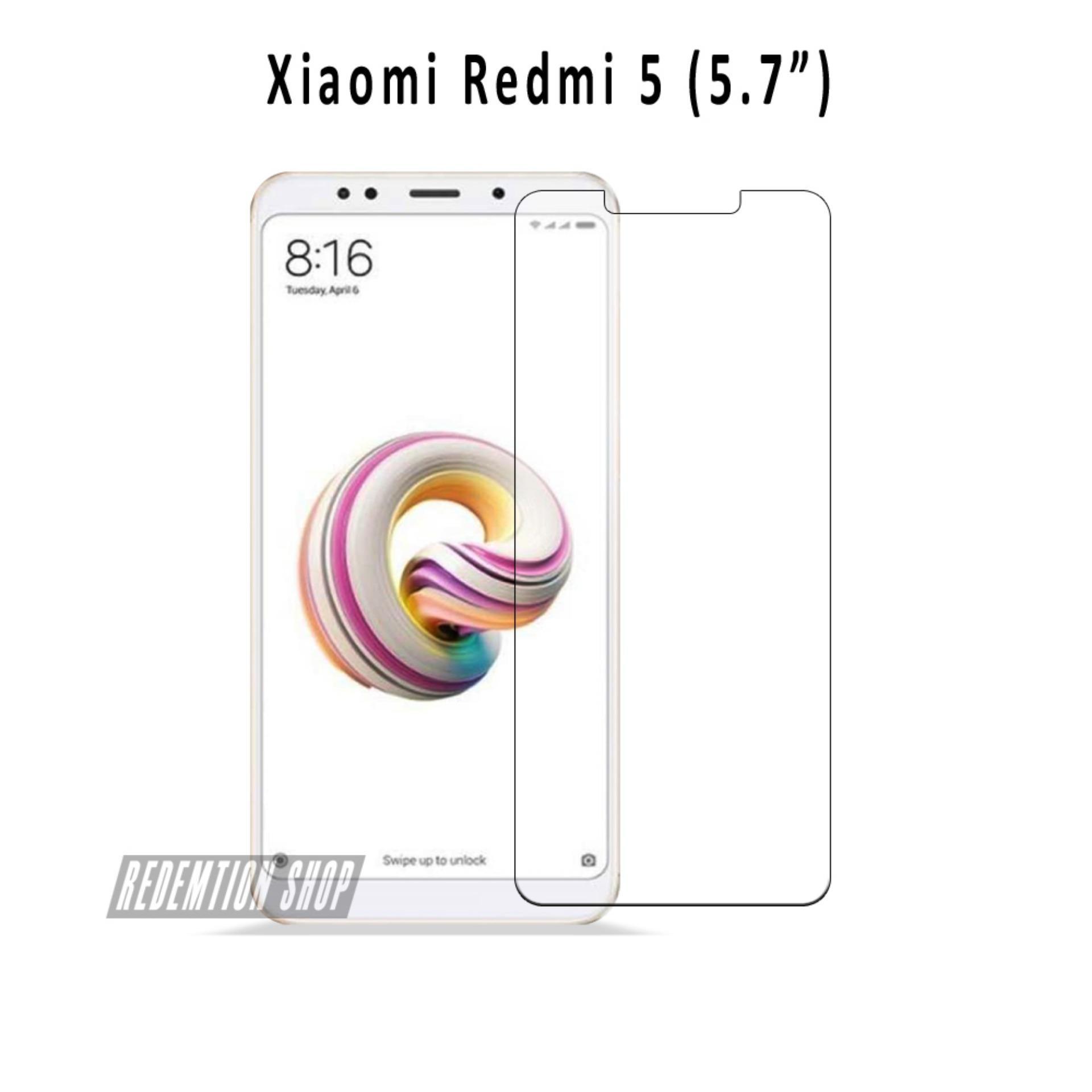 Tempered Glass Xiaomi Redmi 5 Anti Gores Kaca Xiaomi Redmi 5 Pelindung Layar Bening