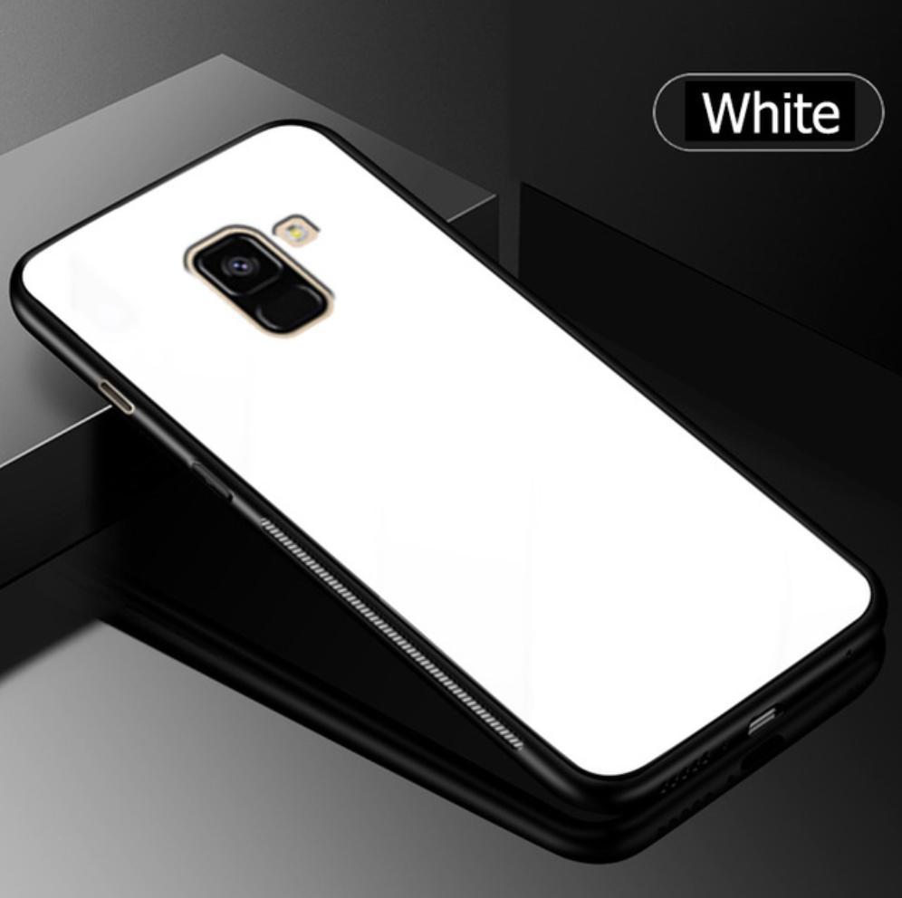 Fitur Samsung A7 2018 A8 Plus Tempered Glass Case Ultra Slim Cafele