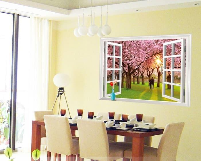 Detail Gambar Wall sticker Romantic Sunset Landscape AY9234E (90x60) Stiker Dinding Terbaru