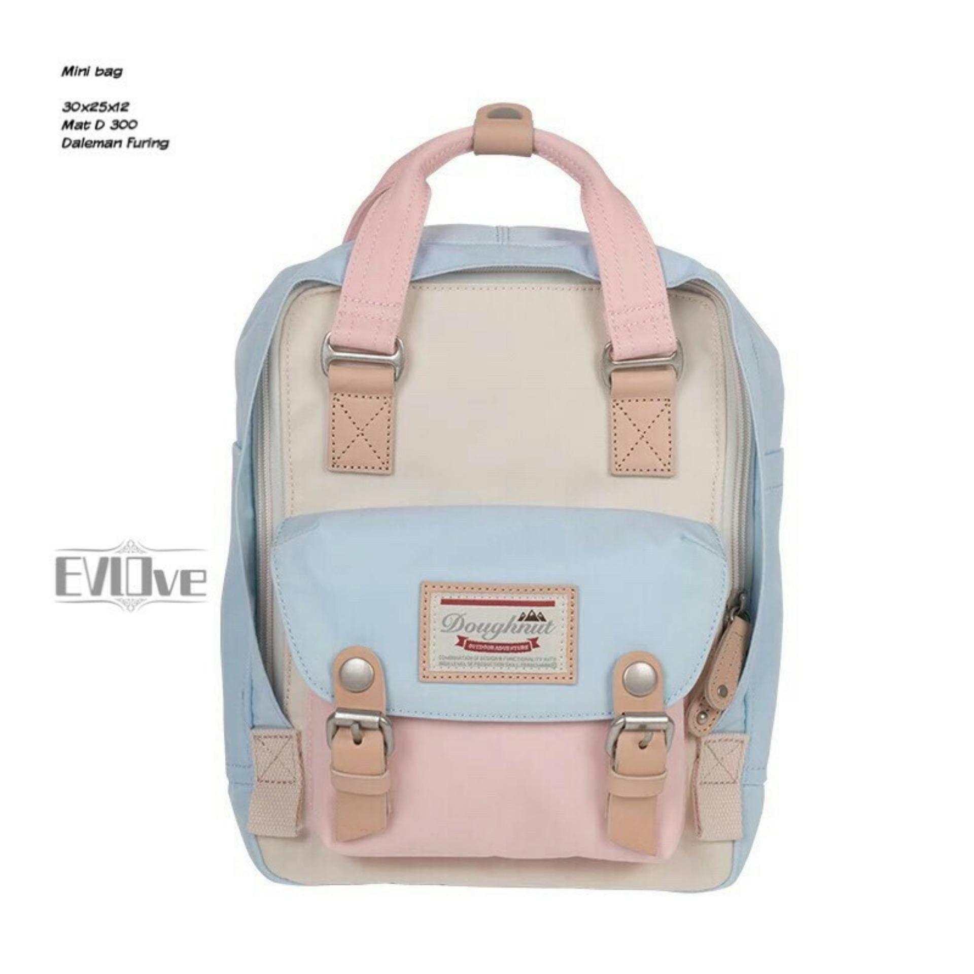 Harga Backpack Korean Style Macaroon Mini Multicolor Tas Ransel Wanita Korean Style Tas Sekolah Korean Style Seken