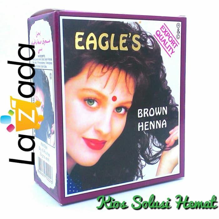 Review Henna Cat Rambut Coklat Eagless Brown Hena 10gr Perawatan