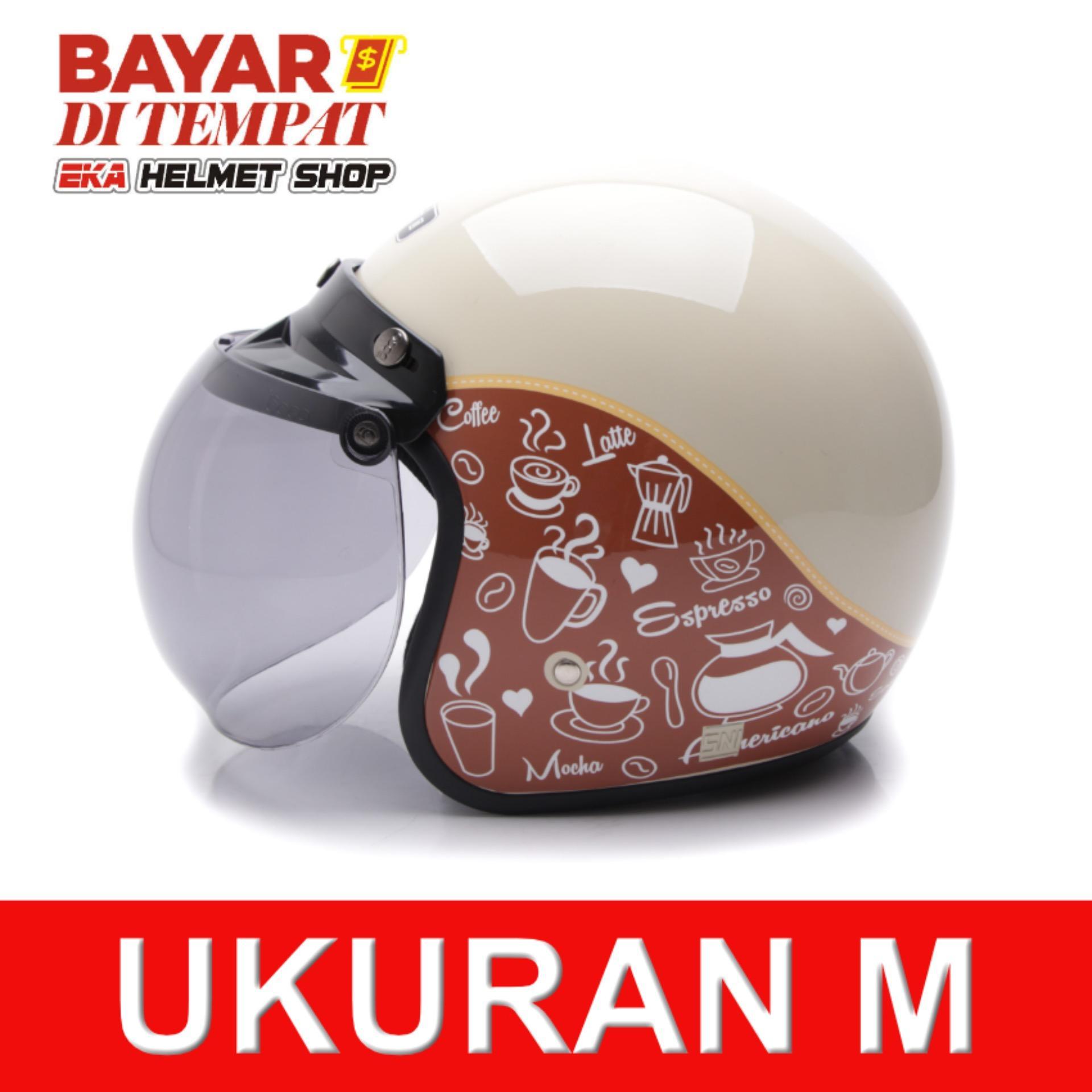 Diskon Wto Helmet Retro Bogo Classic Coffee Krem Cokelat Wto Helmet Di Banten