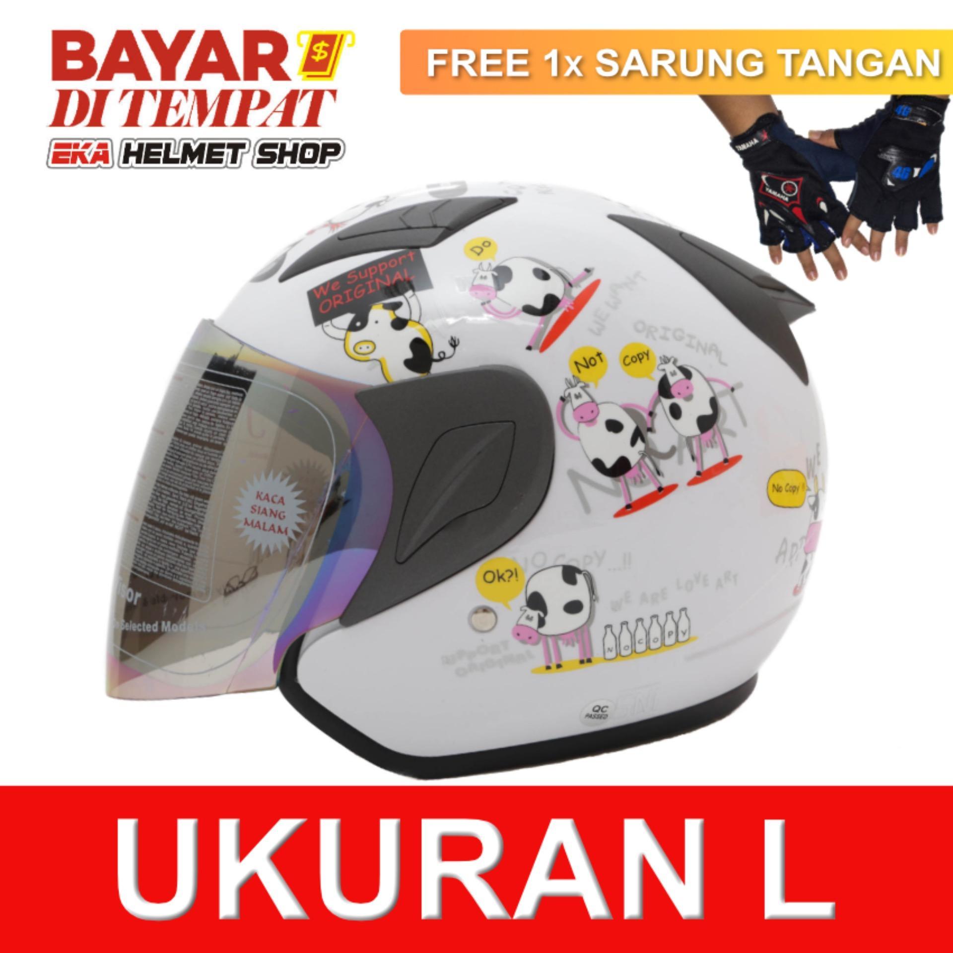 Jual Msr Helmet Javelin Original Putih Promo Gratis Sarung Tangan Satu Set
