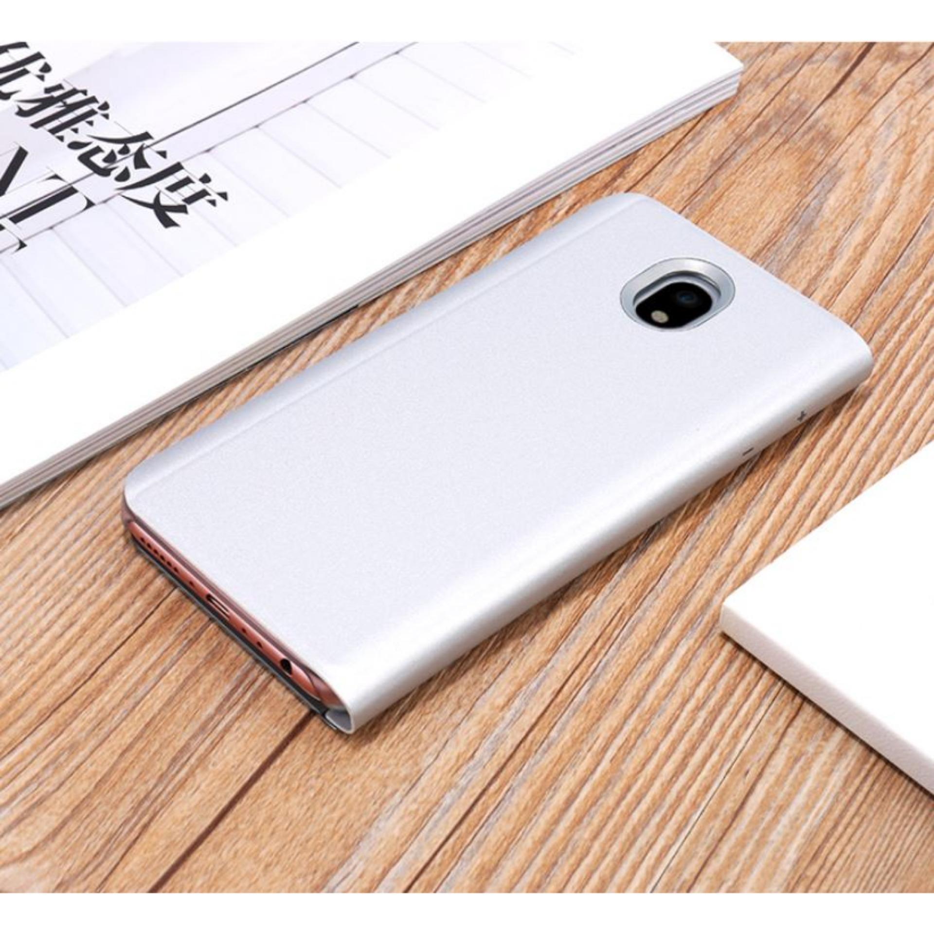 Fitur Aldora Book Cover For Samsung Galaxy J3 Pro Transformers Case Standing Xiaomi Redmi Note 4 Biru J330 Hardcase Clear View Stand