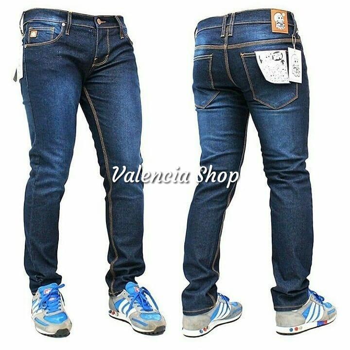 Toko Valencia Celana Jeans Pria Skinny Fit Dark Blue Premium Valencia Dki Jakarta