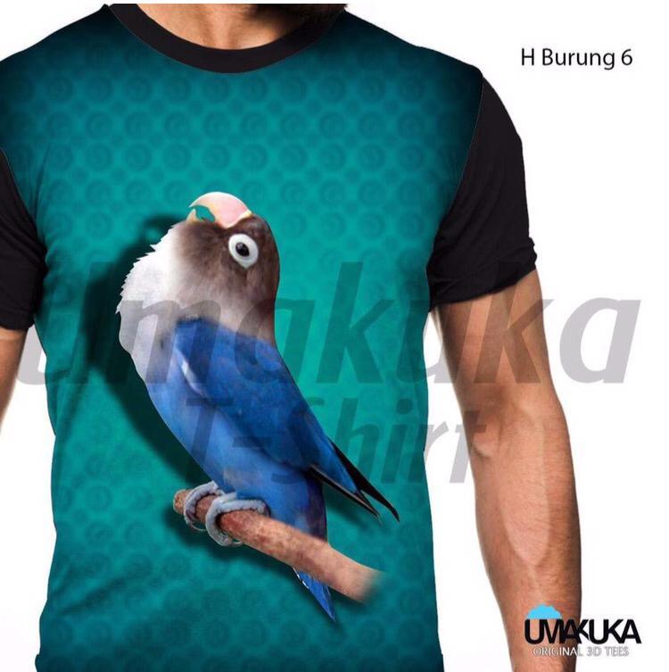harga H burung 6 kaos kicau mania lovebird 3d fullprint Lazada.co.id