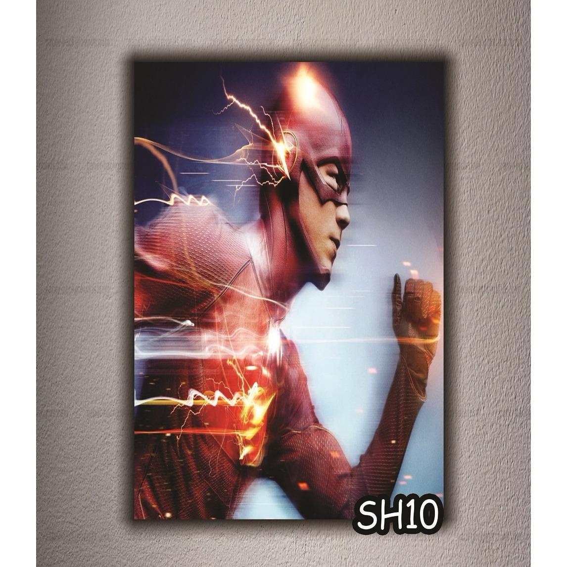 ZhanZie HIASAN DINDING POSTER KAYU ART WALL DECOR SUPER HEROES  A230